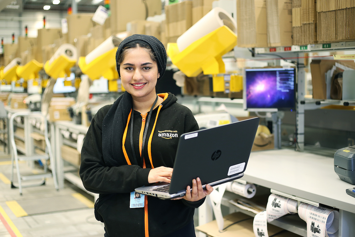Apprenticeship opportunities at Amazon in the UK