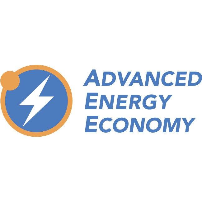 Logo of Advanced Energy Economy, an Amazon Sustainability partner