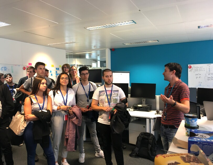 Lenster Lycee students are touring Amazon EU HQ in Kirchberg