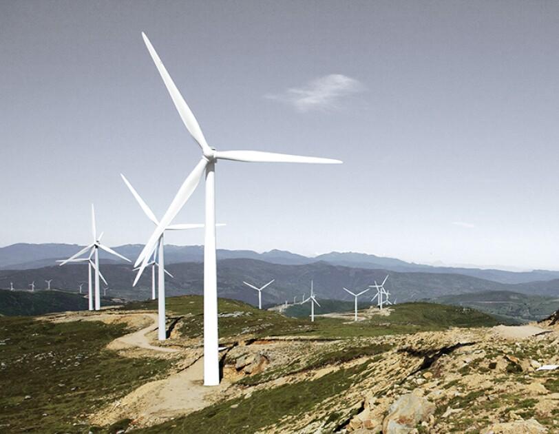 Axpo Windräder in der Landschaft