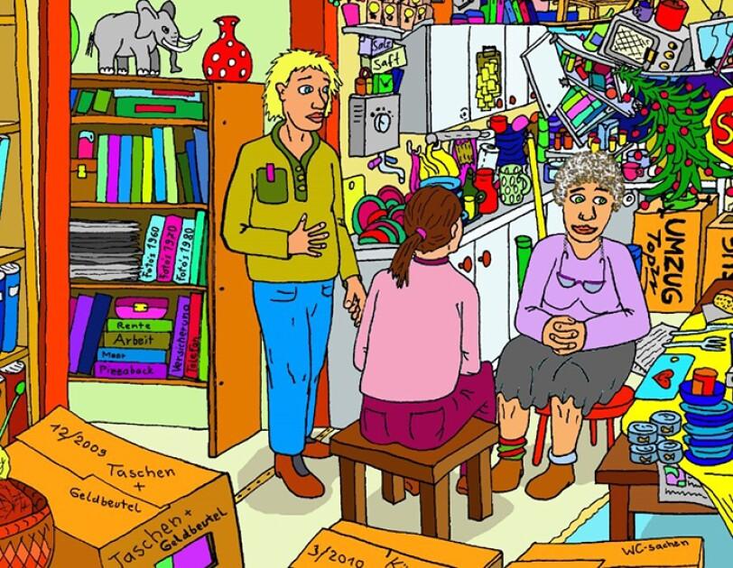 Ein Comic zum Chaos in einer Messie-Wohnung