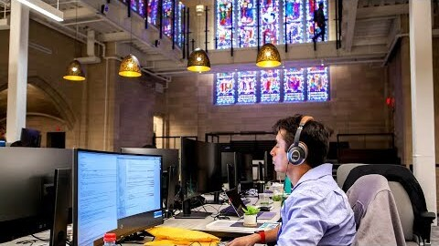 Abandoned church reborn as Audible Innovation Cathedral