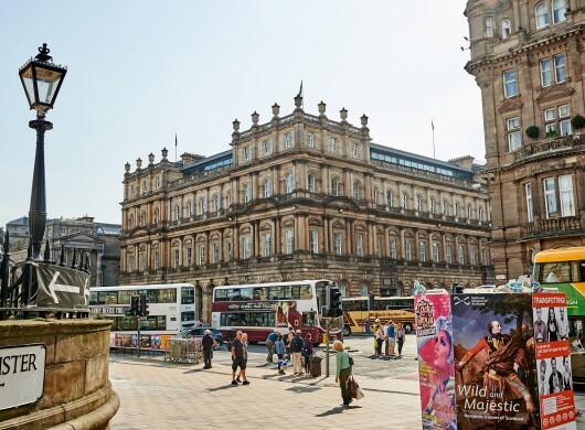 Amazon Development Centre Edinburgh surrounded by historical buildings