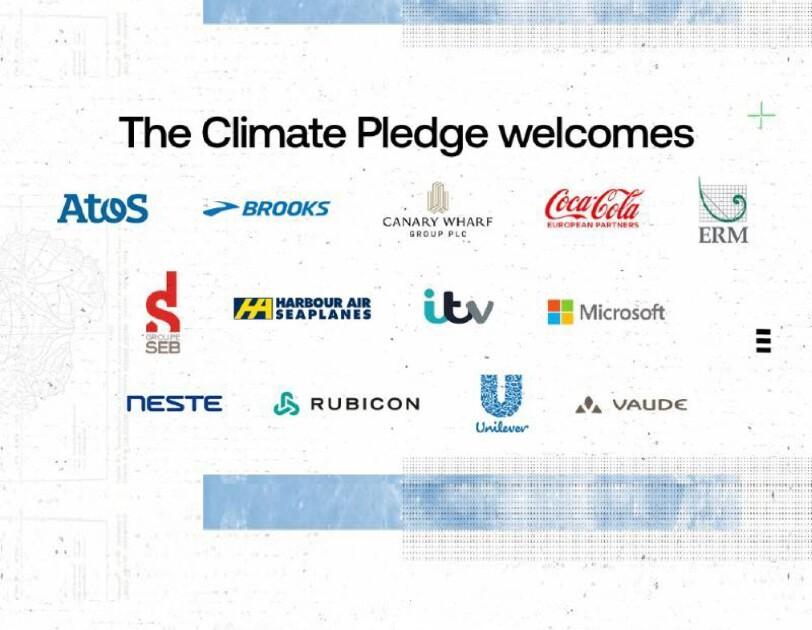 Climate pledge logos
