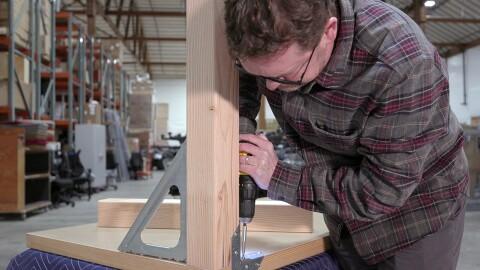 Amazonian Nico Lovejoy builds a door desk