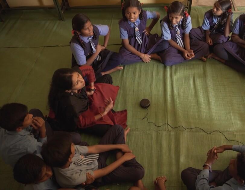 Kids in a school in Bastar