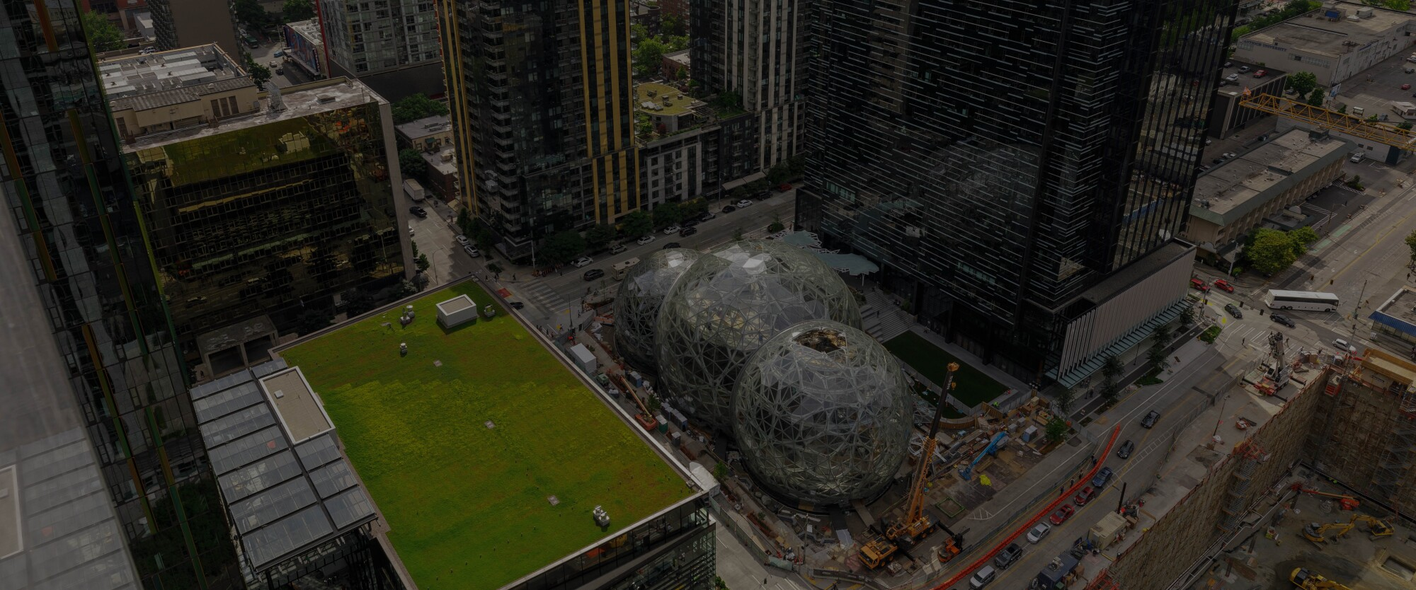 An image of Amazon's Seattle Campus