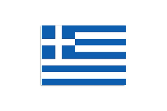 Greece flag map for location