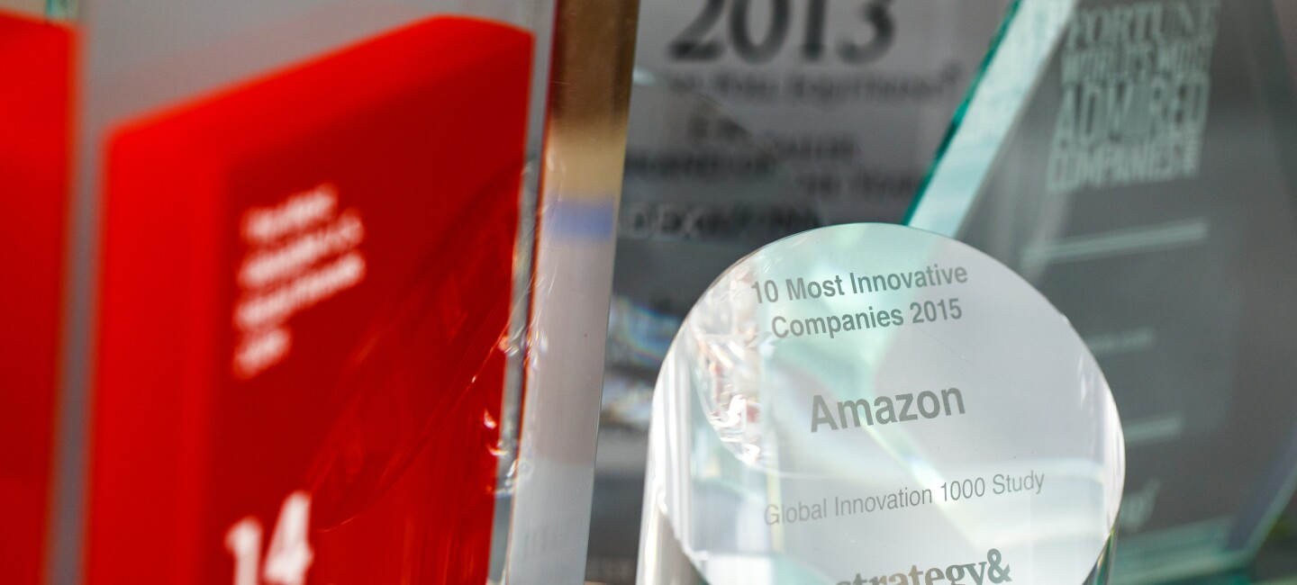 An few of the awards that Amazon has won in recent years.