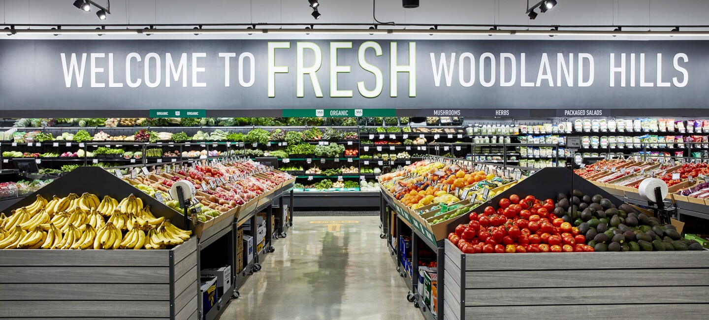 Inside an Amazon Fresh grocery store in California