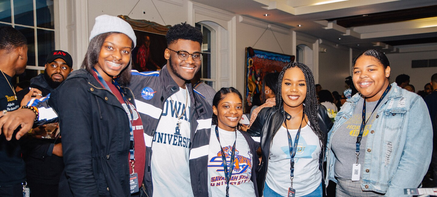 "HBCU students at Amazon's ""Beyond the yard"" event"