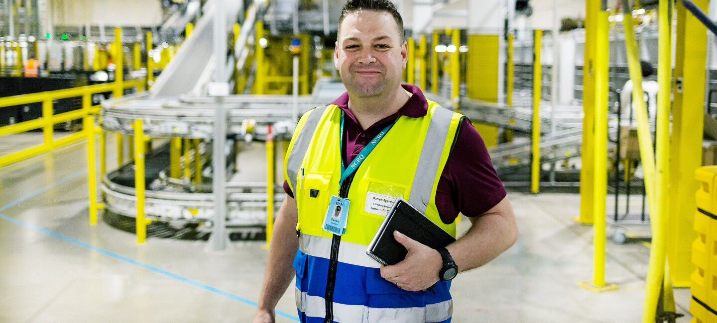 Darren Egerton Health and Safety Specialist at Amazon's fulfilment centre