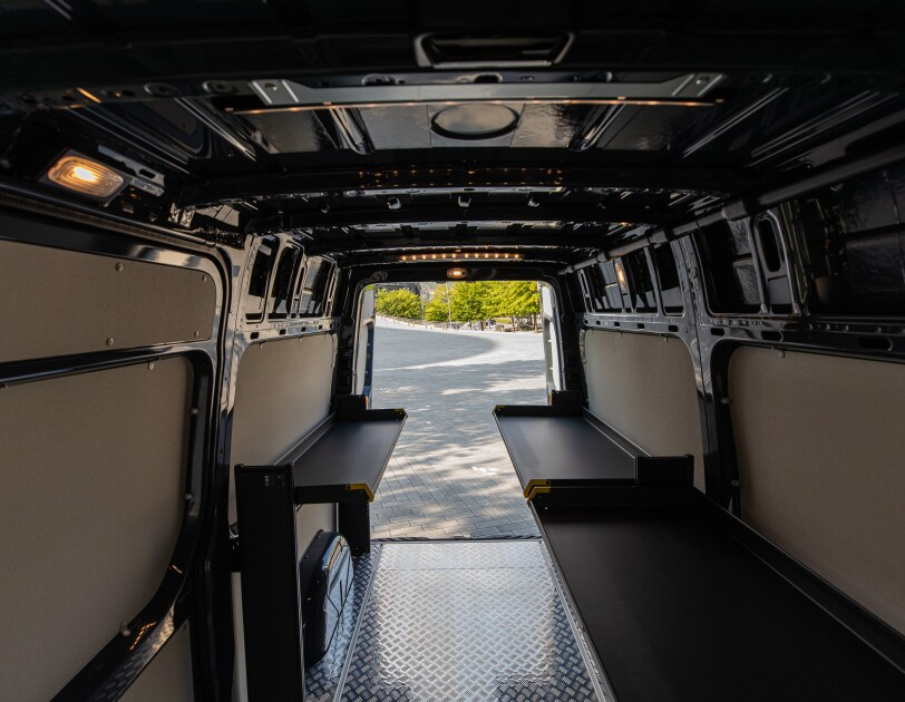 Interior of the Mercedes-Benz eSprinter