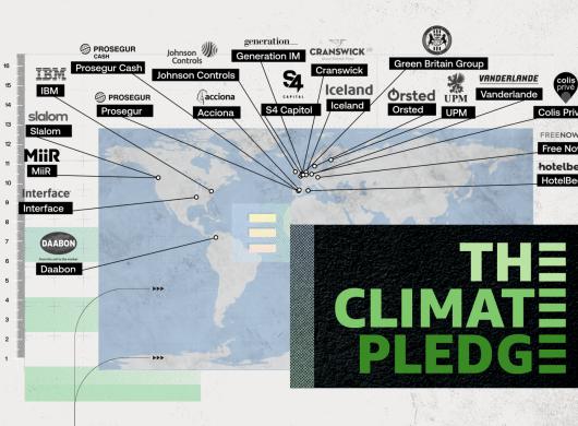 Die neuen Unterzeichner des Climate Pledge.