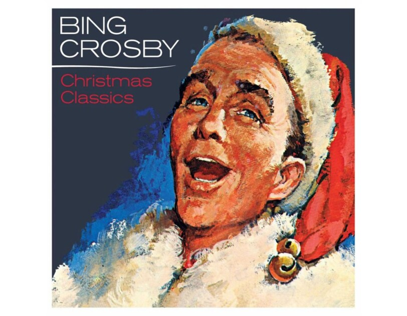 "Album cover for Bing Crosby ""Christmas Classics"" album."