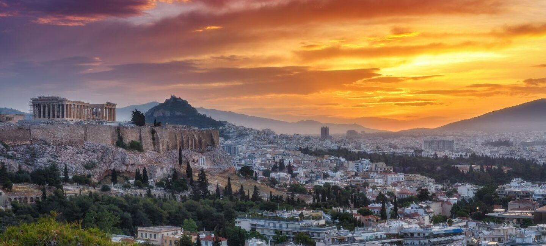 Panoramic view of Athens, Greece.