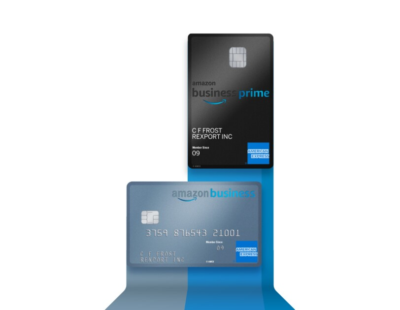black and silver Amex cards for Amazon business