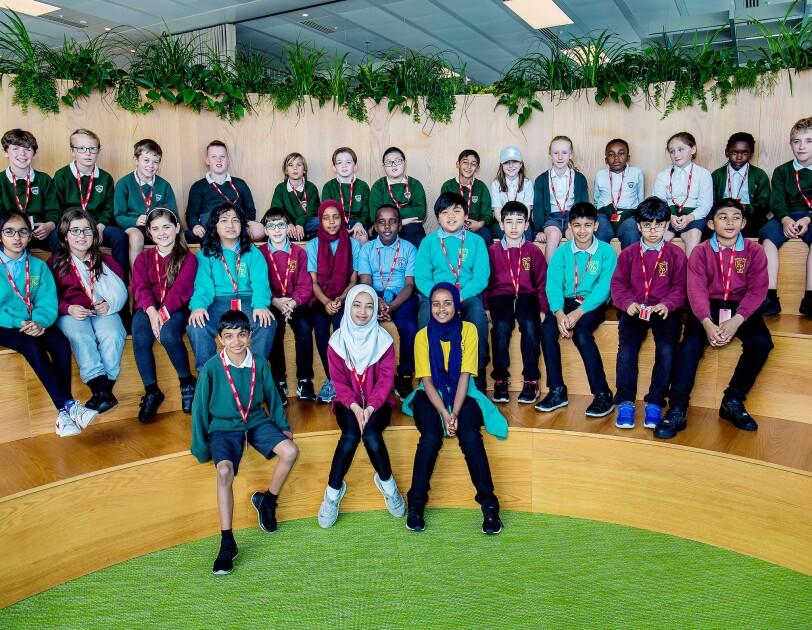 School children at Amazon UK