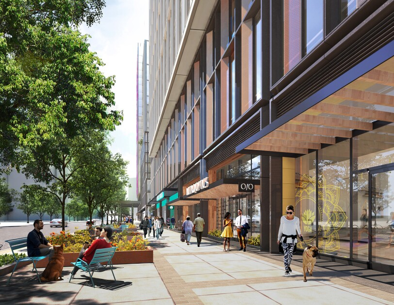 Rendering of new Amazon headquarter location in Arlington, Virginia.