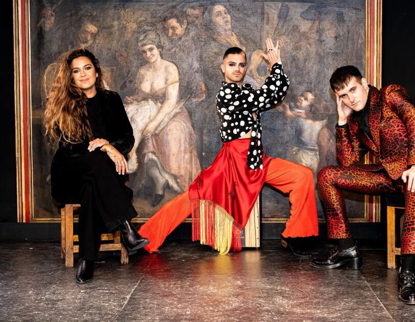 Rubén Heras, Alba Molina and Palomo Spain project Flamenco Queer group photo