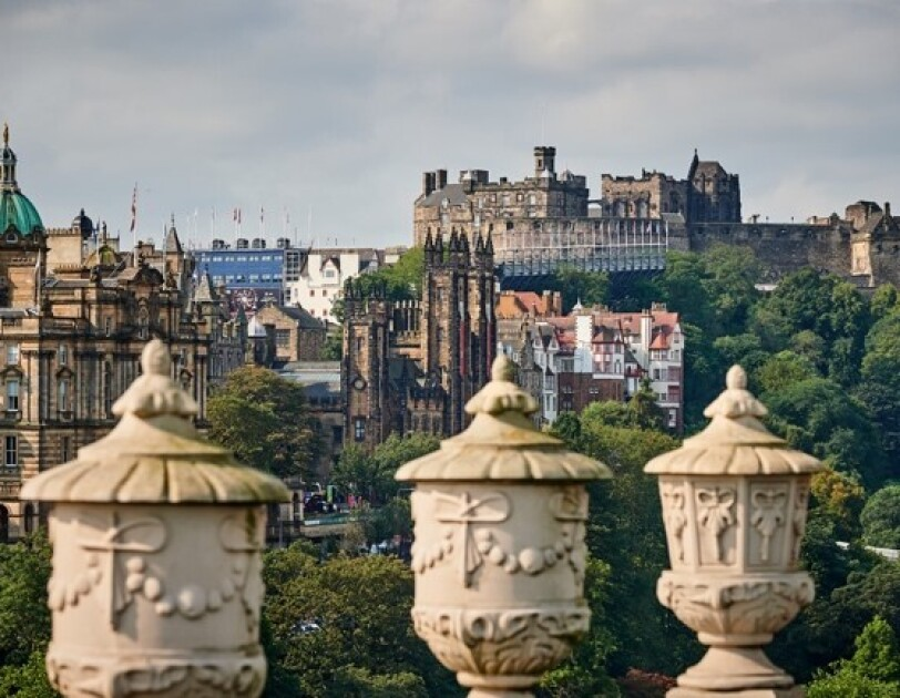 Views of buildings in  Edinburgh from ADCS's rooftop