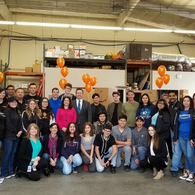 Amazon volunteers at community event