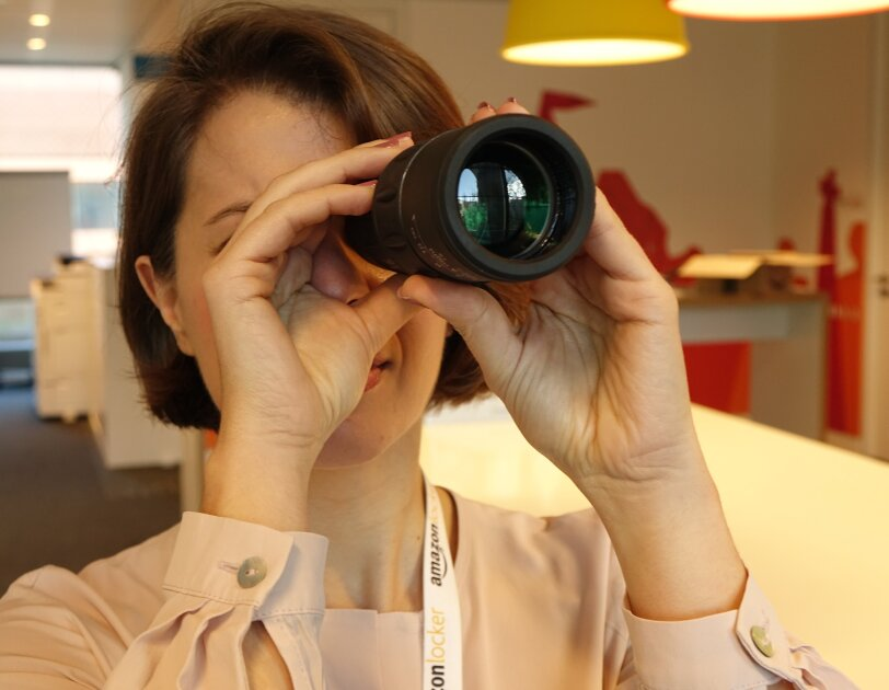 Marianna Pietrafesa Looking Through Telescope