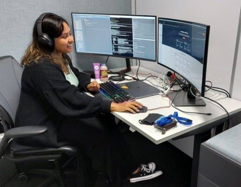 Picture of EMEA student Zainab working