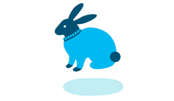 An illustration of a bunny rabbit symbolizing Amazon's animal welfare policy.