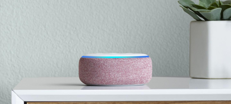 New Amazon Echo Dot device on a dresser