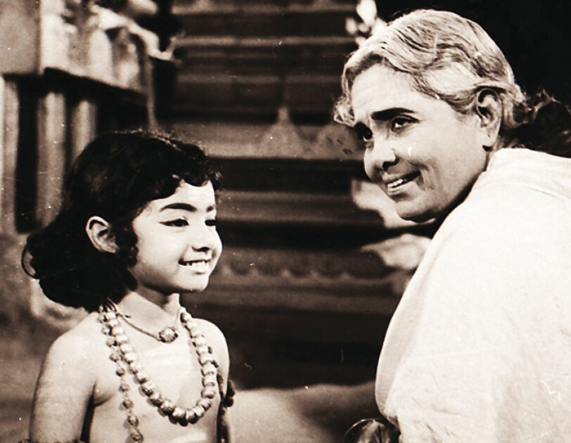 Sridevi in a film as a child artiste