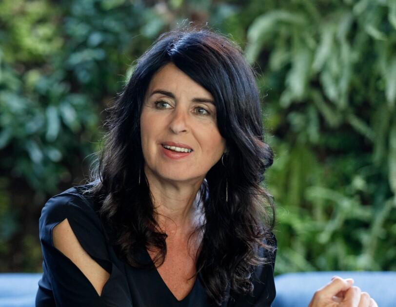 """Brigitte Huber bei der Abschlussveranstaltung """"Unternehmerinnen der Zukunft"""""""