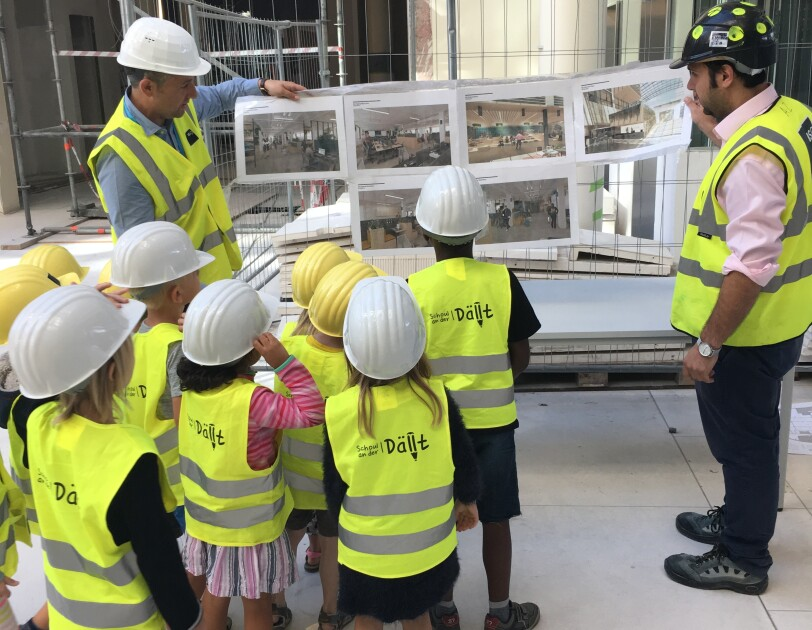 Local school kids touring Amazon's new EU HQ in Luxembourg.