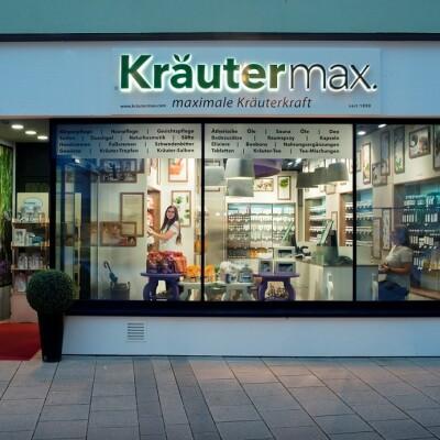 Das Ladengeschäft von Kräutermax in der Rieder Fußgängerzone.