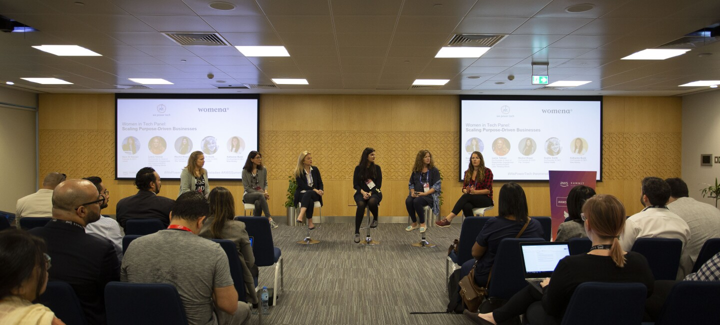 Women@ panel during AWS summit in Dubai