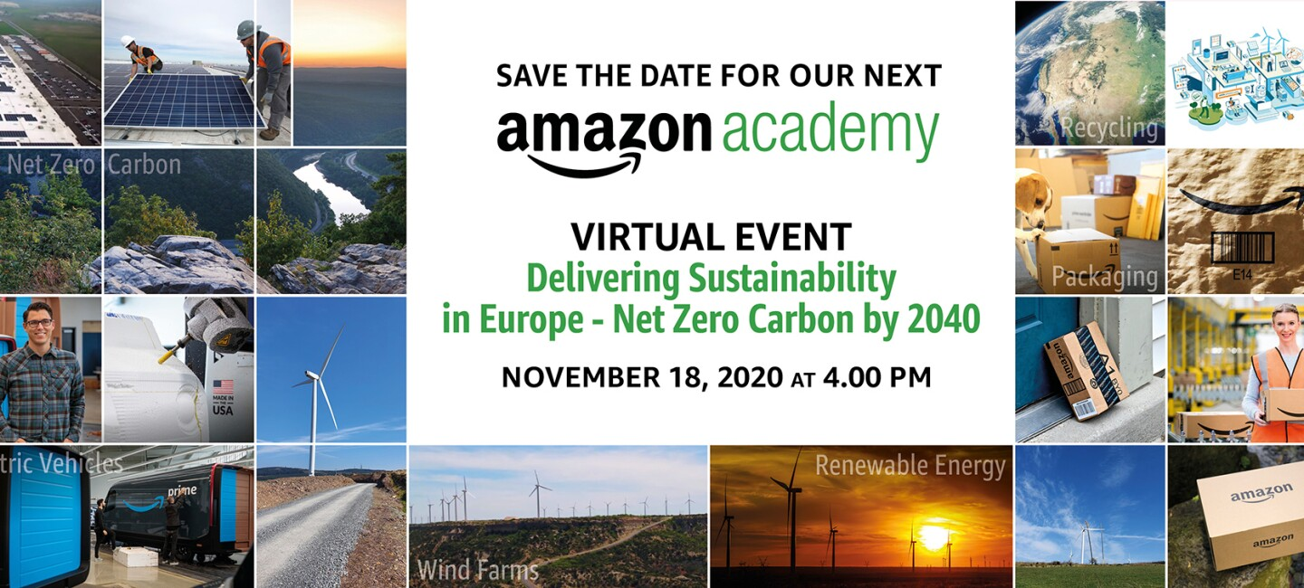Save The Date - Amazon Academy 2020 Virtual Event banner