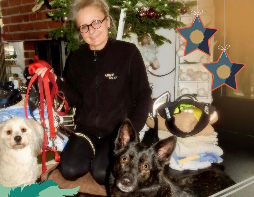 Susanne mit Hunden
