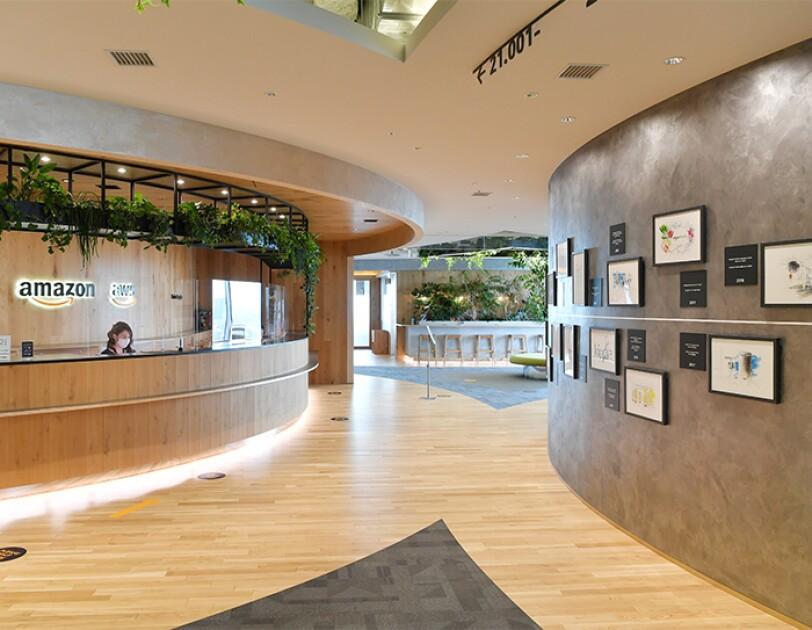 アマゾンジャパンのオフィス 受付