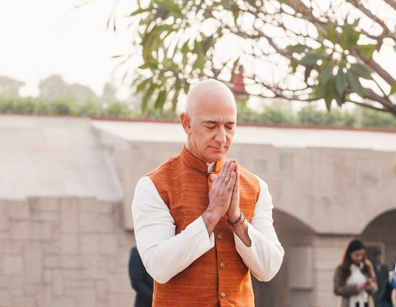 Jeff at Raghat - Gandhi Memorial