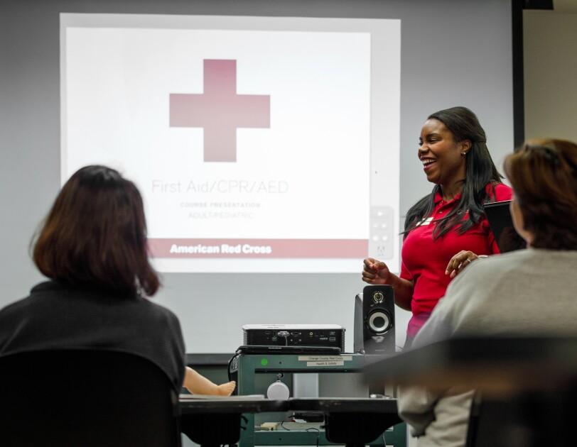CPR instructor Jamie Davis