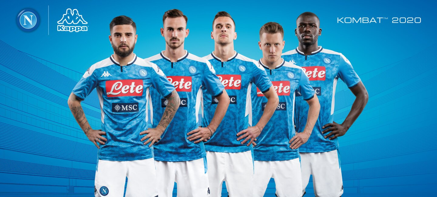 SSC Napoli team jerseys being worn by players