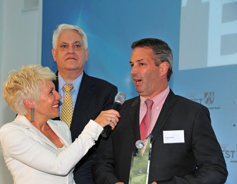 Gregory Bryan bei der NRW Invest Preisverleihung 2018