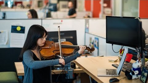A symphony orchestra at the office