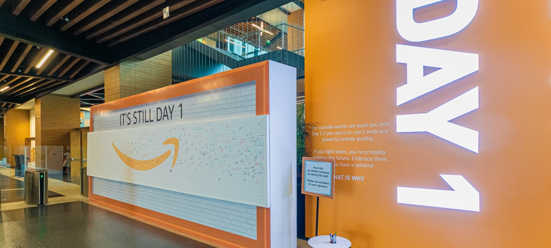 Amazon India office entrnace