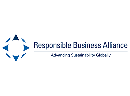 Responsible Business Alliance: Advancing Sustainability Globally logo on white background.