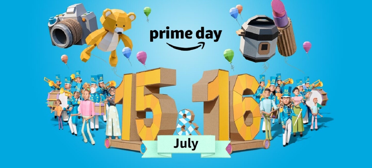 A stylised image celebrating Amazon Prime Day across July 15 and 16