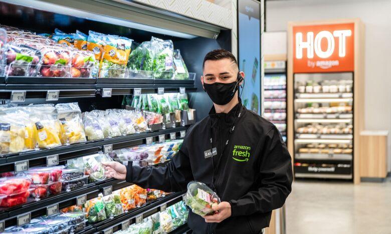 Razvan Chirita working at the Amazon Fresh Wembley store