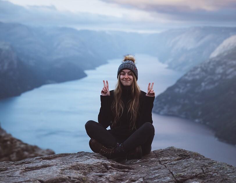 Frauki in den Bergen von Kanada