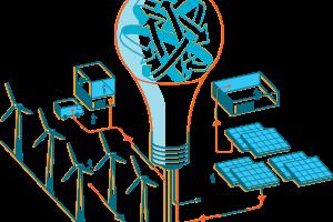 An illustration of renewable energy