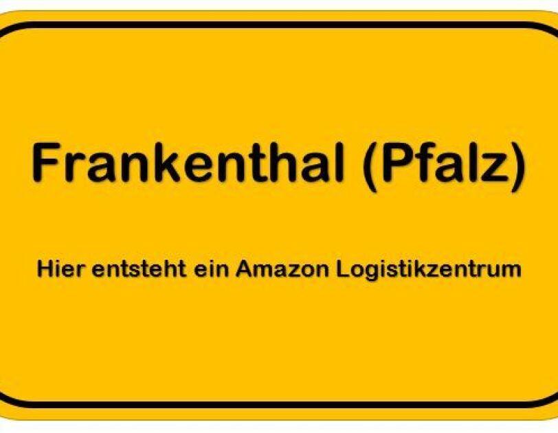"""Ein Ortsschild mit der Aufschrift """"Frankenthal"""""""
